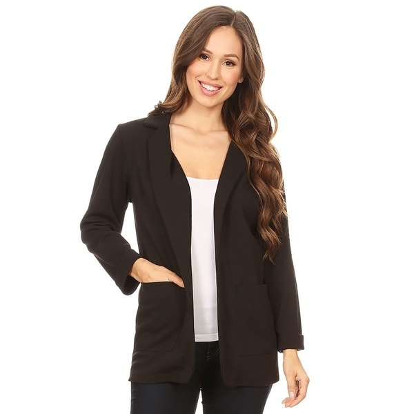 Women's Solid Casual Loose Fit Blazer Jacket. Opens flyout.