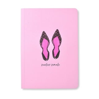 Glitter Ballet Flat 'Fearless Female' Soft Cover Journal - 5.75 x 8.125 inches