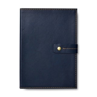 Navy Snap Closure Journal - 5.95 x 8.45 inches