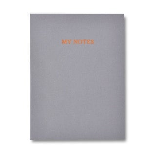 Grey Velvet Journal with Copper Foil & Marble Liner - 6 x 8 inches
