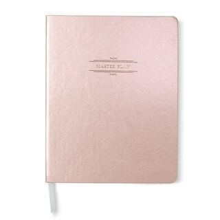Metallic Blush & Rose Gold Foil Faux Leather Journal - 7.5 x 9.5 inches
