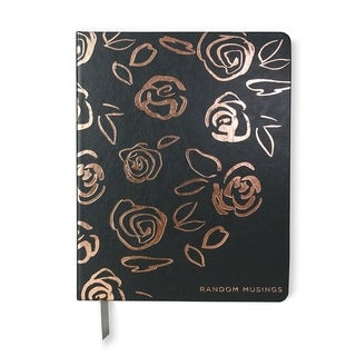 Rose Gold Foil & Faux Leather Journal - 7.5 x 9.5 inches