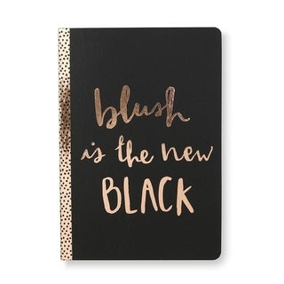 Rose Gold Foil 'Blush Is The New Black' Journal - 5.75 x 8.313 inches