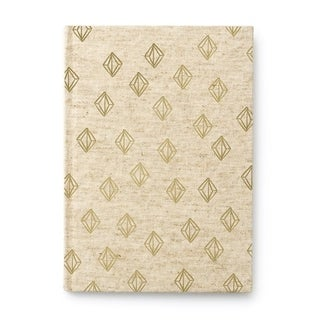 Italian Neroli Gold Diamonds Canvas Journal - 6 x 8.5 inches