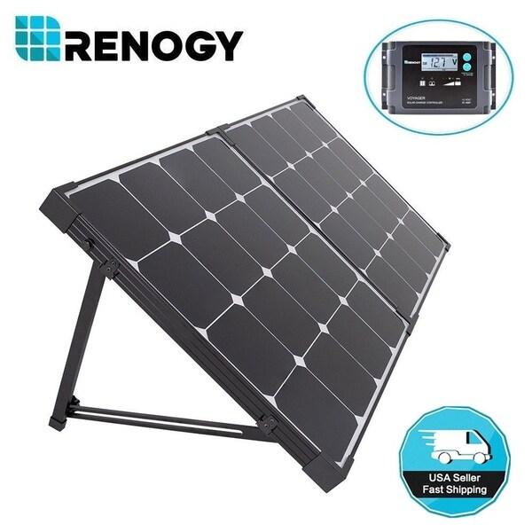 Shop Renogy Eclipse 100w 12v Folding Solar Panel Suitcase