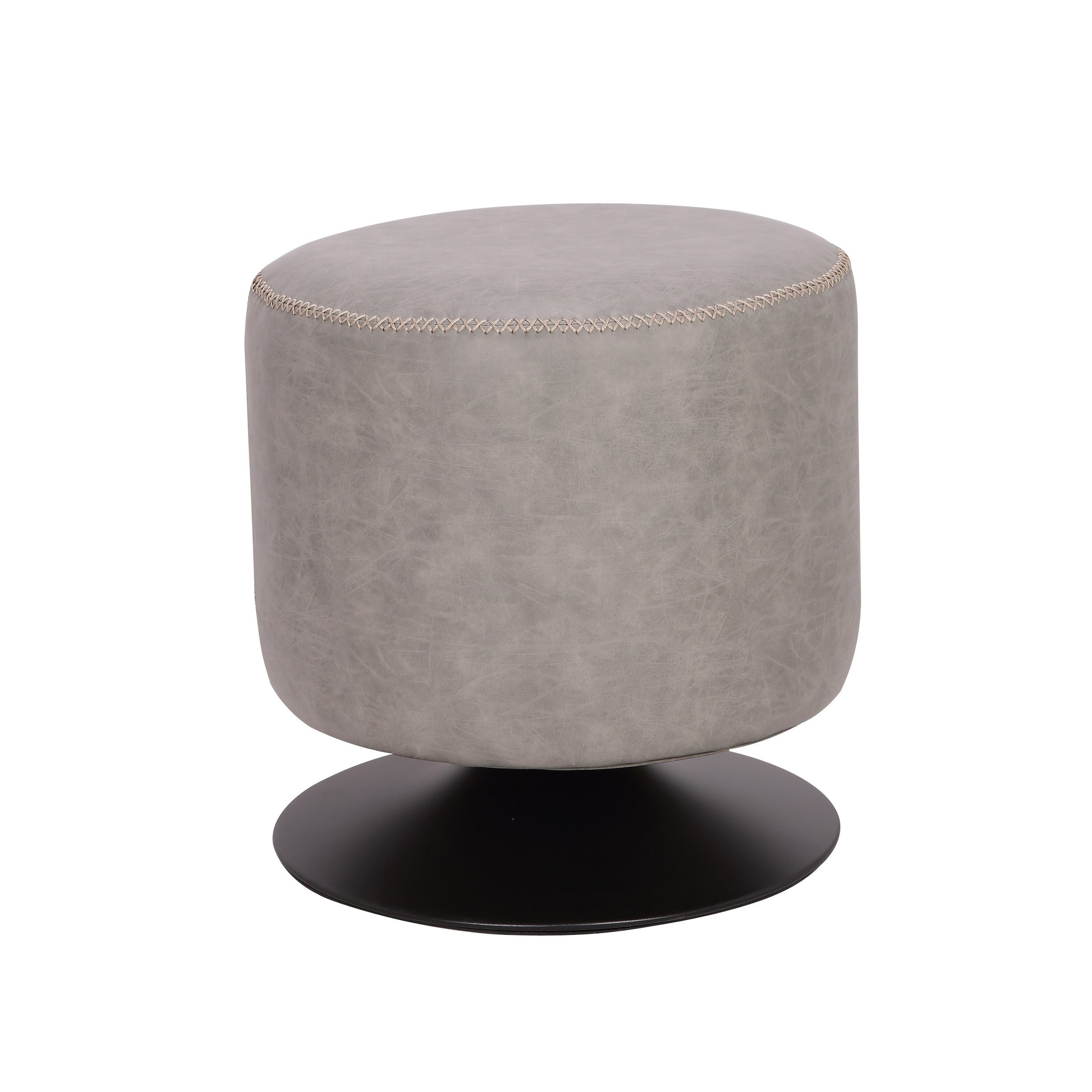 Marvelous Somette 5305 Round Vintage Upholstered Ottoman Caraccident5 Cool Chair Designs And Ideas Caraccident5Info