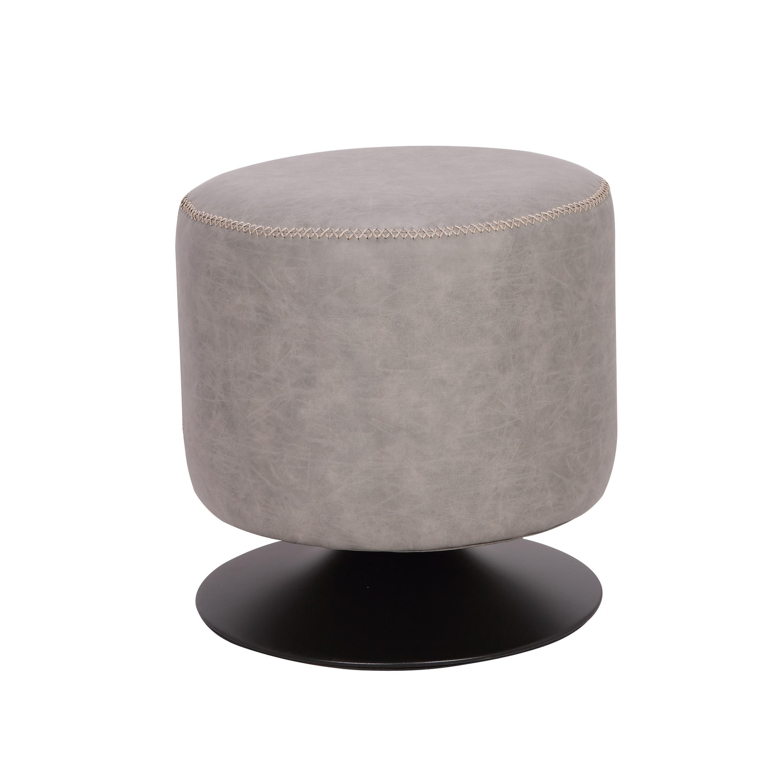 Astonishing Somette 5305 Round Vintage Upholstered Ottoman Beatyapartments Chair Design Images Beatyapartmentscom