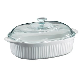 Corningware French White 4-Qt Oval Casserole