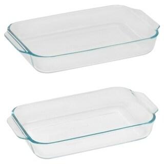 Pyrex Basics 2-Pc Baking Dish Set