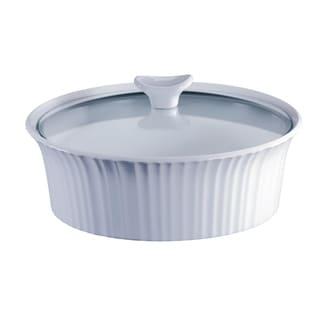 Corningware French White III 2.5-Qt Round Casserole