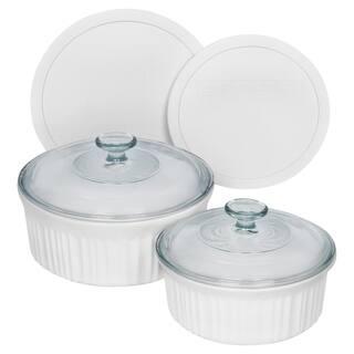 Corningware French White 6-Pc Round Set