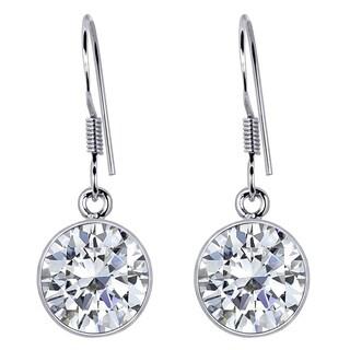 2.10 Carat White Topaz Sterling Silver Dangle Earrings For Womens