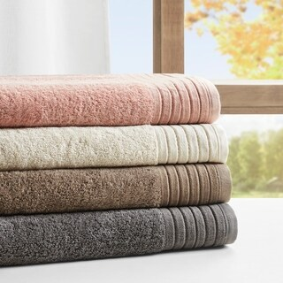 "Madison Park Signature Reverie Solid 100-percent Cotton 8 Piece Towel Set - 28""w x 54""l (2)"