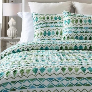 Watercolor Diamond 3-Piece Quilt Set