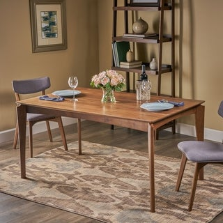 Link to Wren Mid-Century 6-Seater Rubberwood Dining Table with Walnut Veneer by Christopher Knight Home Similar Items in Dining Room & Bar Furniture