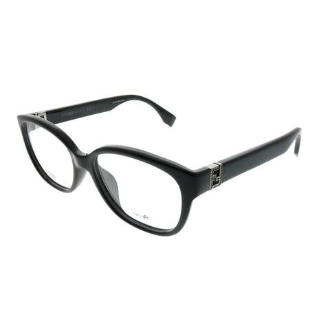 Fendi Rectangle FF 0068/F D28 Unisex Shiny Black Frame Eyeglasses