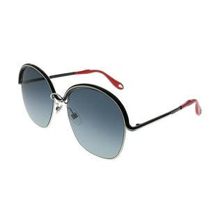 8bb00f483c5 Givenchy Oval GV 7030 7G1 Women Grey Silver Frame Grey Gradient Lens  Sunglasses