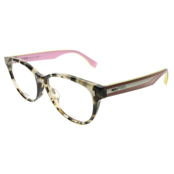 4aa80ec0817f Fendi Cat-Eye FF 0186 F UEY Women Grey Havana Pink Frame Eyeglasses