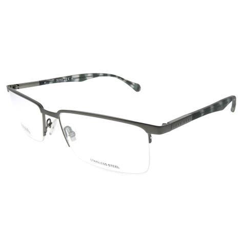 Hugo Boss Semi-Rimless BOSS 829 Z2F Unisex Silver Frame Eyeglasses