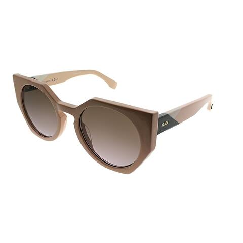 d3c785aab334 Fendi Cat-Eye FF 0151 Fendi Facets 35J QR Women Pink Frame Brown Gradient  Lens