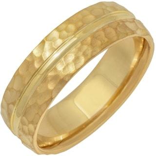 Link to 14k Yellow Gold Split Hammer Design Comfort Fit Men's Wedding Bands Similar Items in Wedding Rings