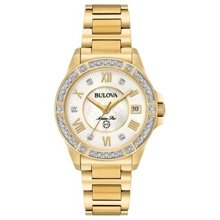 Bulova Women's 98R235 Marine Star Goldtone Diamond Accent Bracelet Watch - Gold-tone