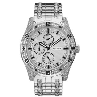 Bulova Men's 96C106 Crystal Accent Multifunction Bracelet Watch
