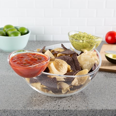Chip and Dip Bowls 3 PC Serving Dish by Classic Cuisine
