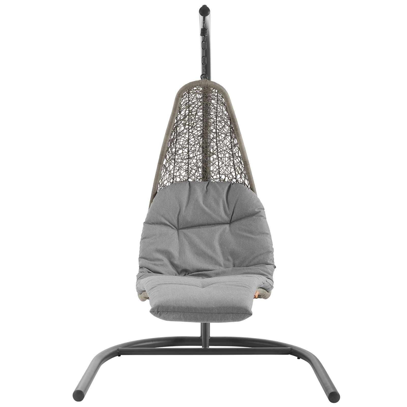 Picture of: Shop Landscape Hanging Chaise Lounge Outdoor Patio Swing Chair Overstock 25433774
