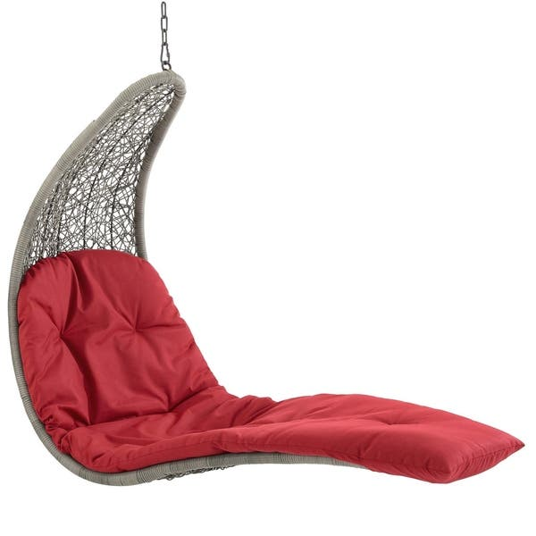 Shop Landscape Hanging Chaise Lounge Outdoor Patio Swing