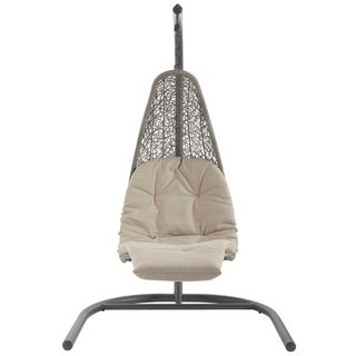 Landscape Hanging Chaise Lounge Outdoor Patio Swing Chair - N/A