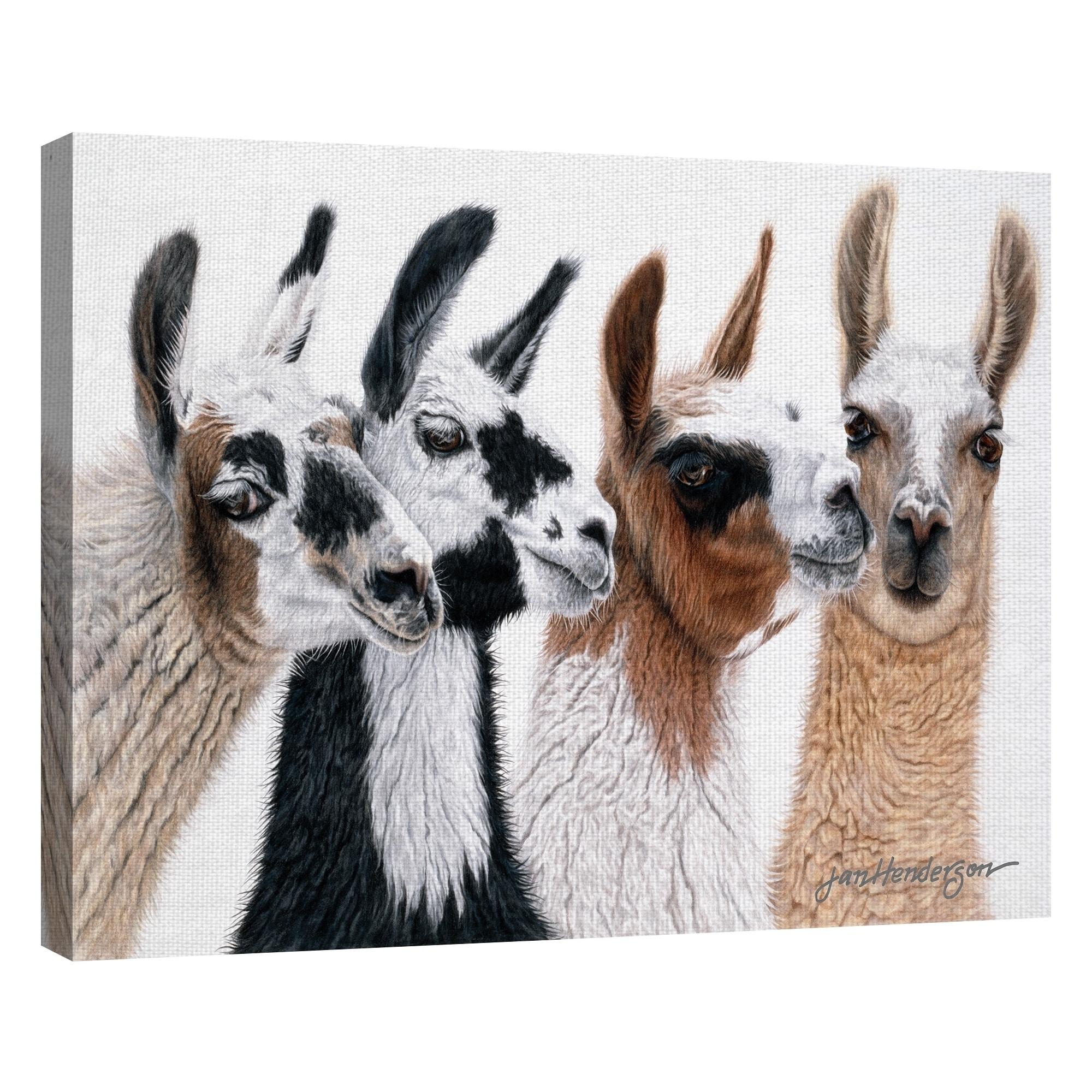 Fine Art Canvas Peruvian Visitors Llamas By Jan Henderson Canvas Art Print On Sale Overstock 25433811