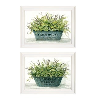 """Farm Market Bouquet"" 2-Piece Vignette by Cindy Jacobs, White Frame"