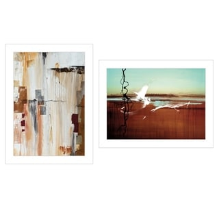 """""""Abstract Flight"""" 2-Piece Vignette by Cloverfield & Co, White Frame"""