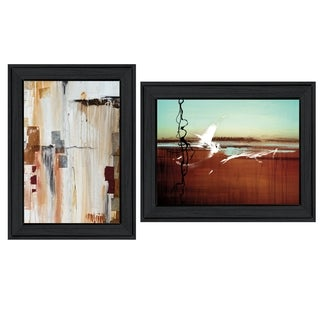"""Abstract Flight"" 2-Piece Vignette by Cloverfield & Co, Black Frame"