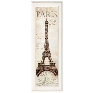"""""""Paris Panel"""" by Cloverfield & Co, Ready to Hang Framed Print, White Frame"""