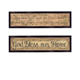 """Blessed Home"" 2-Piece Vignette by Gail Eads, Black Frame"