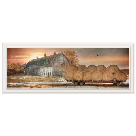"""Sunset on the Farm"" by Lori Deiter, Ready to Hang Framed Print, White Frame"