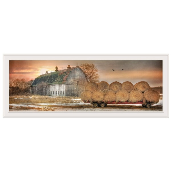 """""""Sunset on the Farm"""" by Lori Deiter, Ready to Hang Framed Print, White Frame. Opens flyout."""