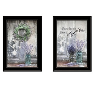 """Where There is Love"" 2-Piece Vignette by Lori Deiter, Black Frame"