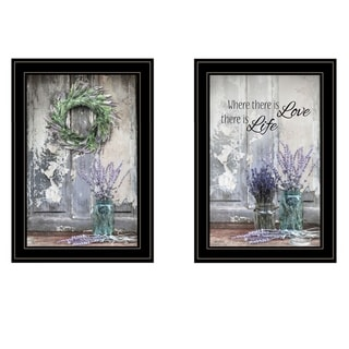"""""""Where There is Love"""" 2-Piece Vignette by Lori Deiter, Black Frame"""