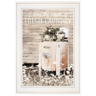 """Fresh Laundry"" by Lori Deiter, Ready to Hang Framed Print, White Frame"