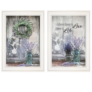 """""""Where There is Love"""" 2-Piece Vignette by Lori Deiter, White Frame"""