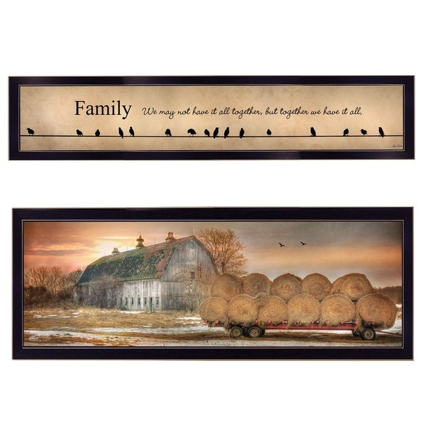 """Together Blessed"" We Have It All 2-Piece Vignette by Lori Deiter, Black Frame"