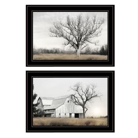 """""""Ohio Fields I"""" 2-Piece Vignette by Lori Deiter, Black Frame"""