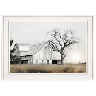 """Ohio Fields I"" by Lori Deiter, Ready to Hang Framed Print, White Frame"