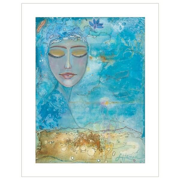 """Sea Goddess"" by Lorri Hanna, Ready to Hang Framed Print, White Frame"
