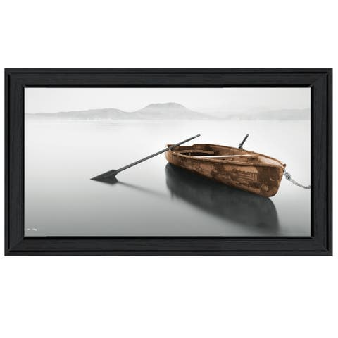 """Solitude"" by Moises Levy, Ready to Hang Framed Print, Black Frame"
