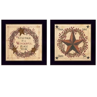"""Together is a wonderful Place"" 2-Piece Vignette by, Black Frame"