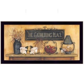"""""""The Gathering Place"""" by Mary June, Ready to Hang Framed Print, Black Frame"""